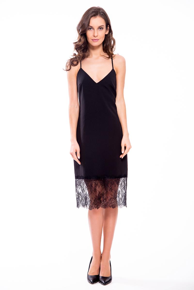 Платье Lusio, цвет: черный. SS18-020077. Размер XS (40/42)
