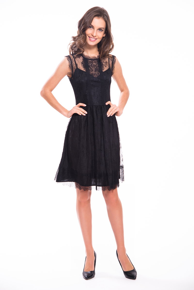 Платье Lusio, цвет: черный. SS18-020166. Размер XS (40/42)