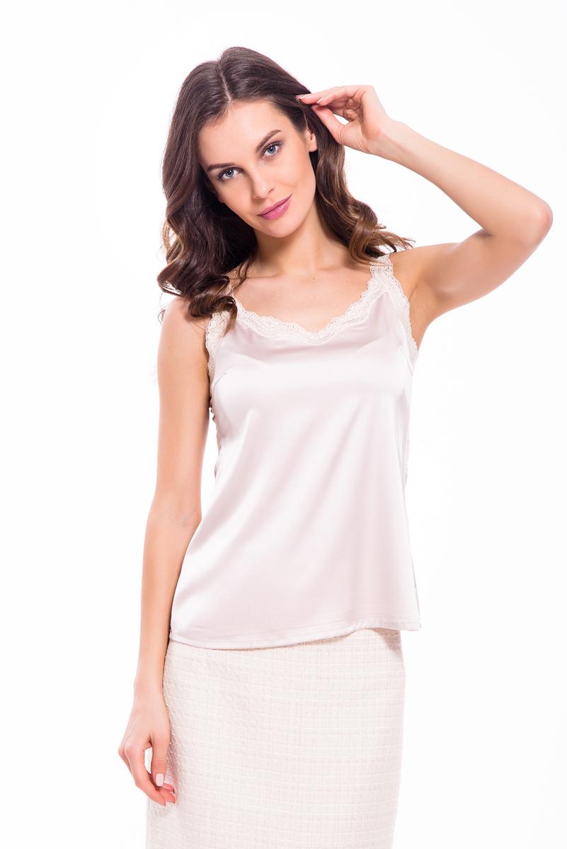 Топ женский Lusio, цвет: кремовый. SS18-370033. Размер XS (40/42)SS18-370033