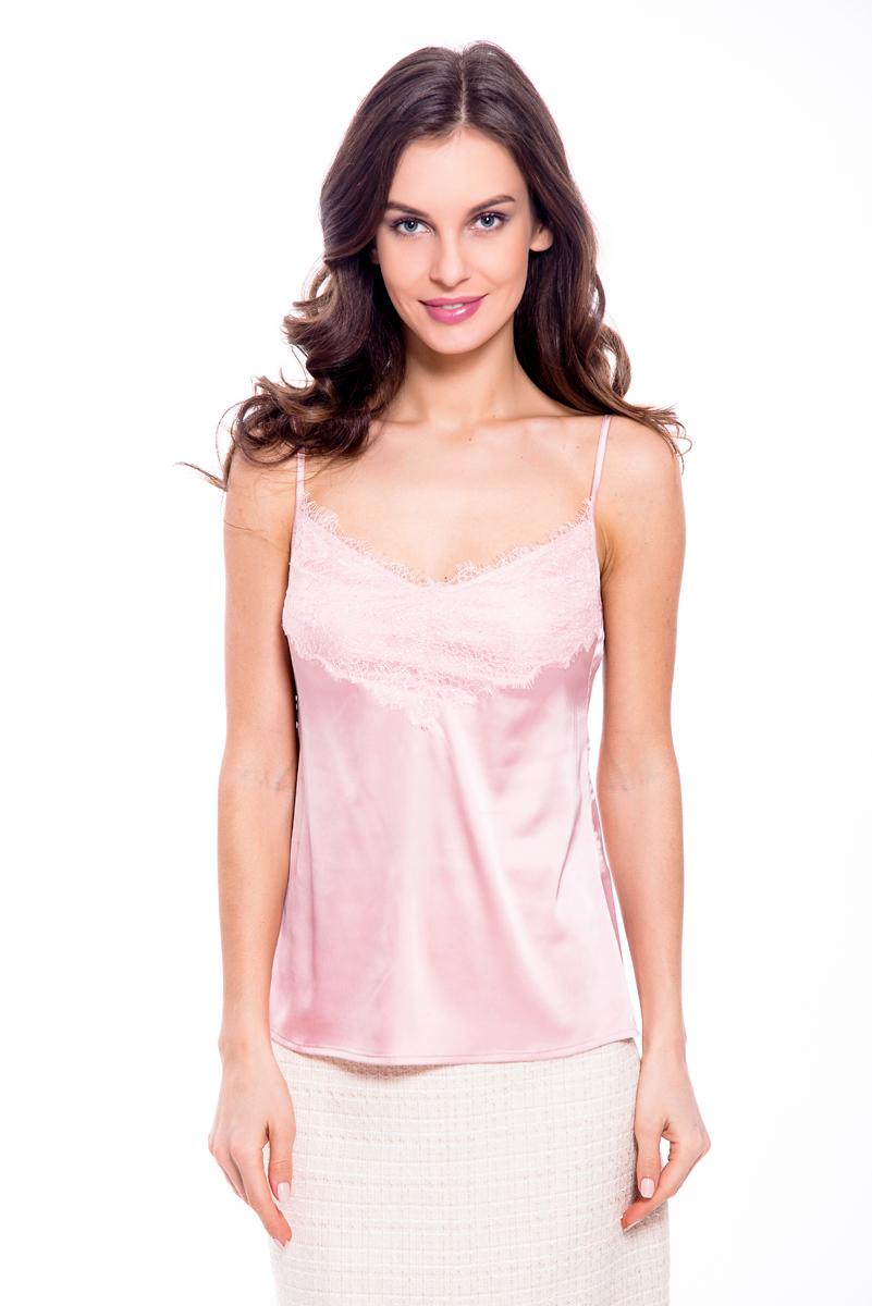 где купить Топ женский Lusio, цвет: розовый. SS18-370026. Размер XS (40/42) по лучшей цене