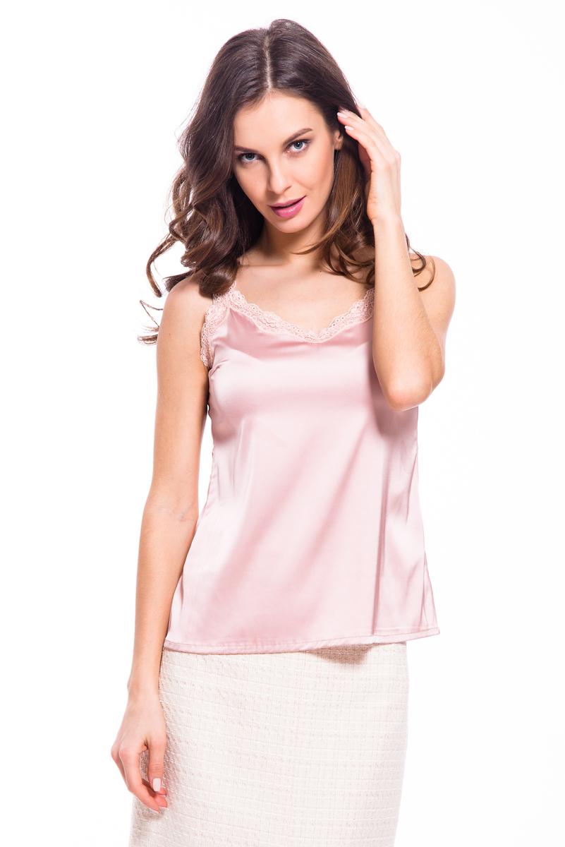Топ женский Lusio, цвет: розовый. SS18-370033. Размер XS (40/42)SS18-370033