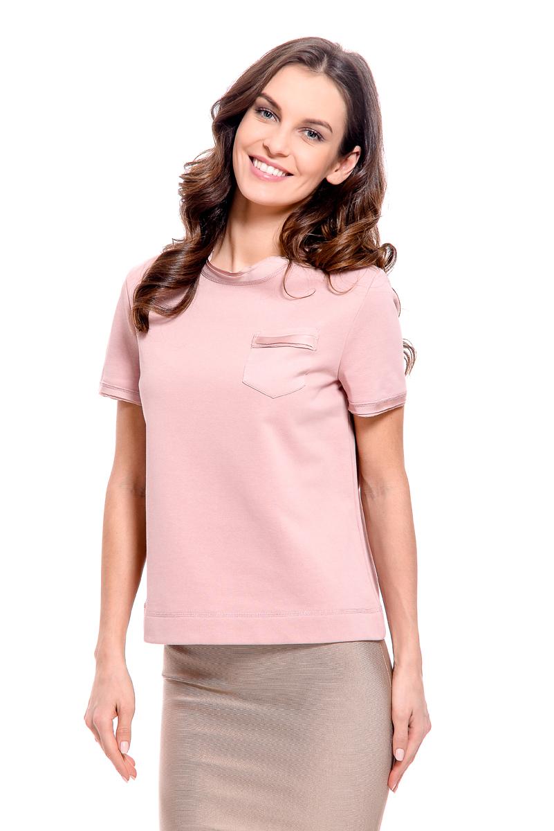 Футболка женская Lusio, цвет: розовый. SS18-260006. Размер S (42/44)SS18-260006