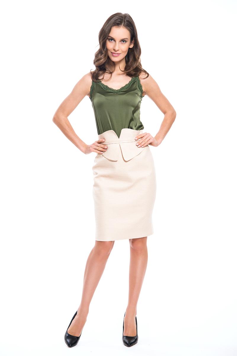 Юбка женская Lusio, цвет: кремовый. SS18-030021. Размер XS (40/42) кастрюля эмалированная 5 5 л appetite париж 1rd221m