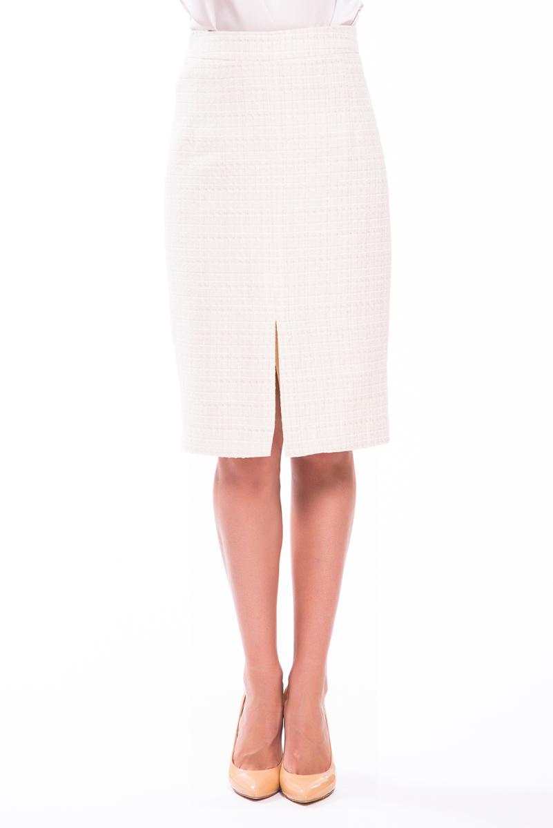 Юбка женская Lusio, цвет: кремовый. SS18-030023. Размер XS (40/42)