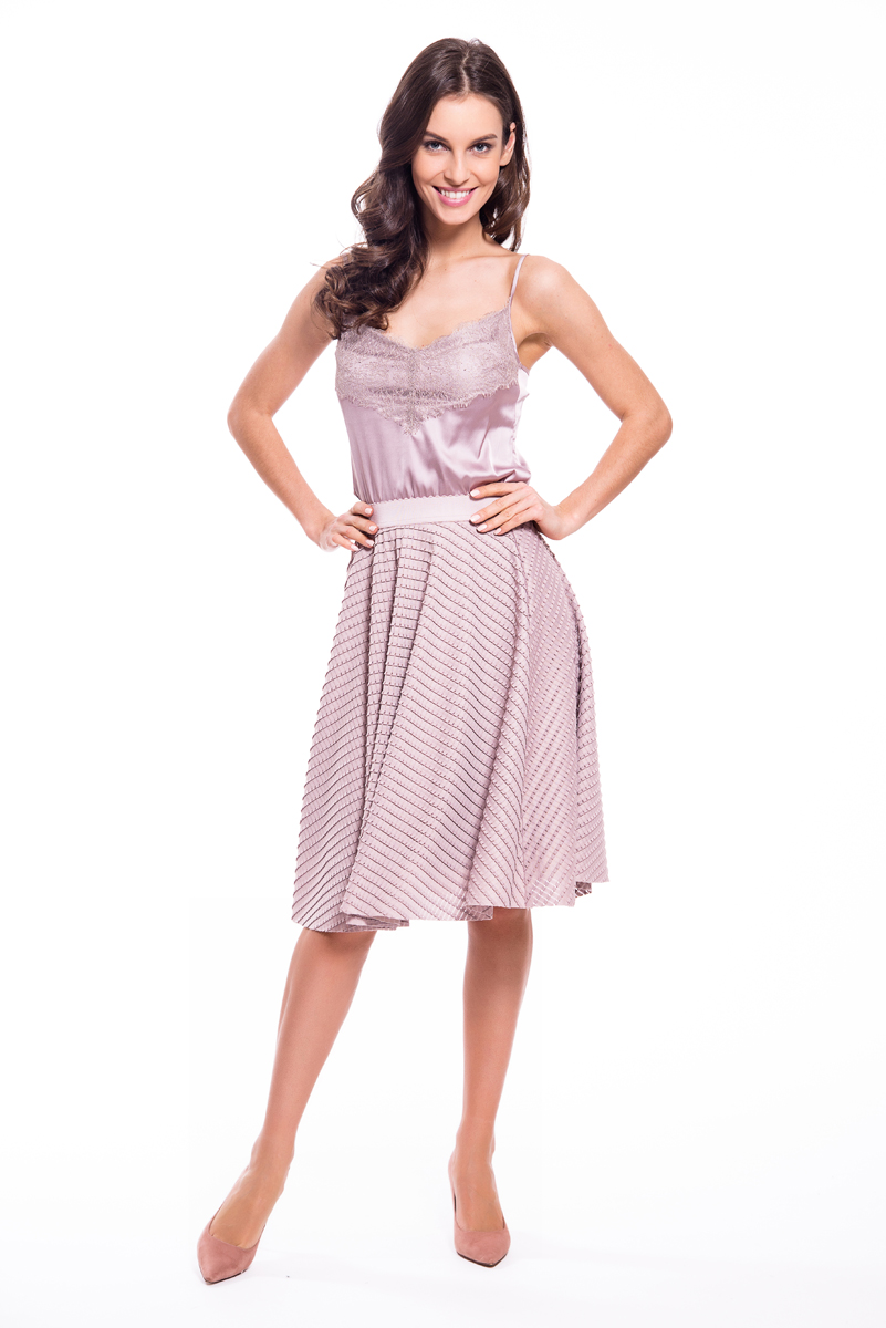 Юбка женская Lusio, цвет: пудровый. SS18-030017. Размер XS (40/42)SS18-030017