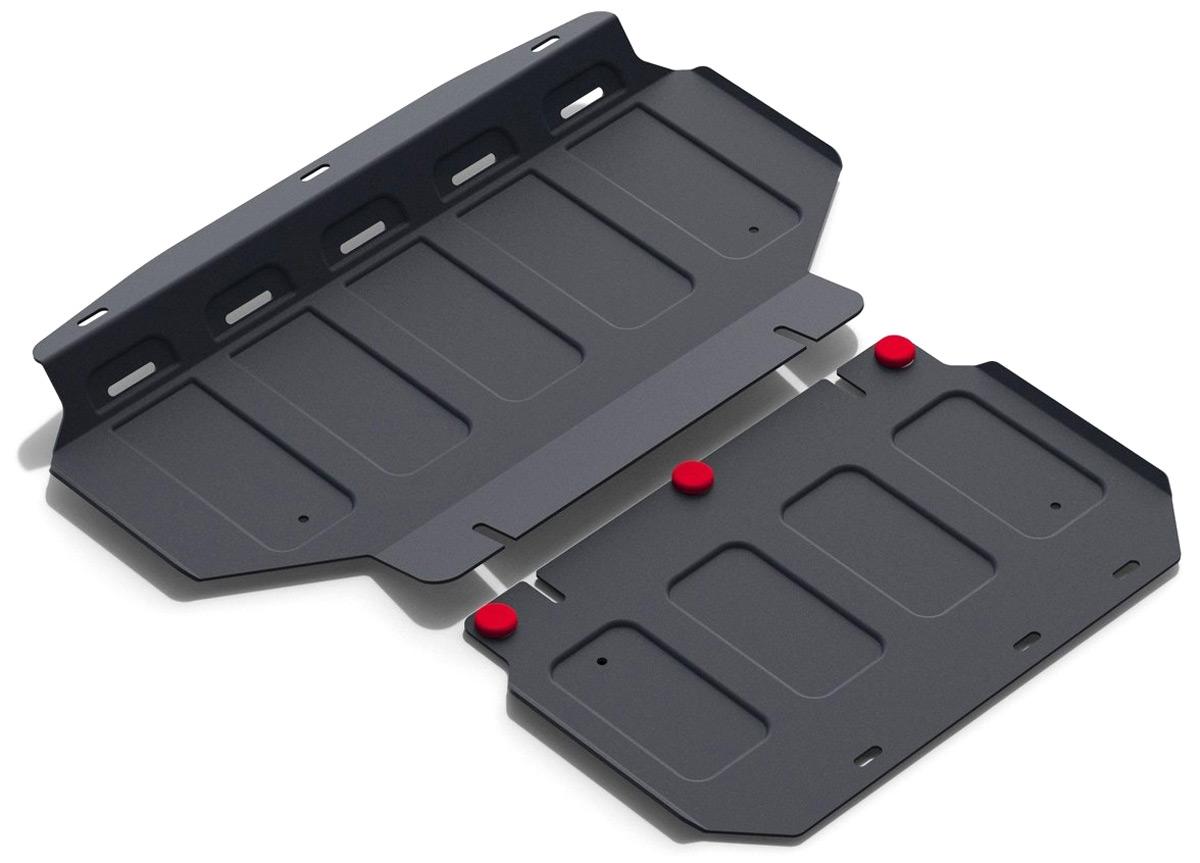Защита для картера Автоброня Kia Mohave 2009-2017, сталь 2 мм111.02839.1Защита АвтоБРОНЯ для картера (2 части) Kia Mohave V - все 2009-2017, сталь 2 мм, крепеж в комплекте, 111.02839.1Стальные защиты Автоброня надежно защищают ваш автомобиль от повреждений при наезде на бордюры, выступающие канализационные люки, кромки поврежденного асфальта или при ремонте дорог, не говоря уже о загородных дорогах.- Имеют оптимальное соотношение цена-качество.- Спроектированы с учетом особенностей автомобиля, что делает установку удобной.- Защита устанавливается в штатные места кузова автомобиля.- Является надежной защитой для важных элементов на протяжении долгих лет.- Глубокий штамп дополнительно усиливает конструкцию защиты.- Подштамповка в местах крепления защищает крепеж от срезания.- Технологические отверстия там, где они необходимы для смены масла и слива воды, оборудованные заглушками, закрепленными на защите.Уважаемые клиенты!Обращаем ваше внимание, на тот факт, что защита имеет форму, соответствующую модели данного автомобиля. Наличие глубокого штампа и лючков для смены фильтров/масла предусмотрено не на всех защитах. Фото служит для визуального восприятия товара.