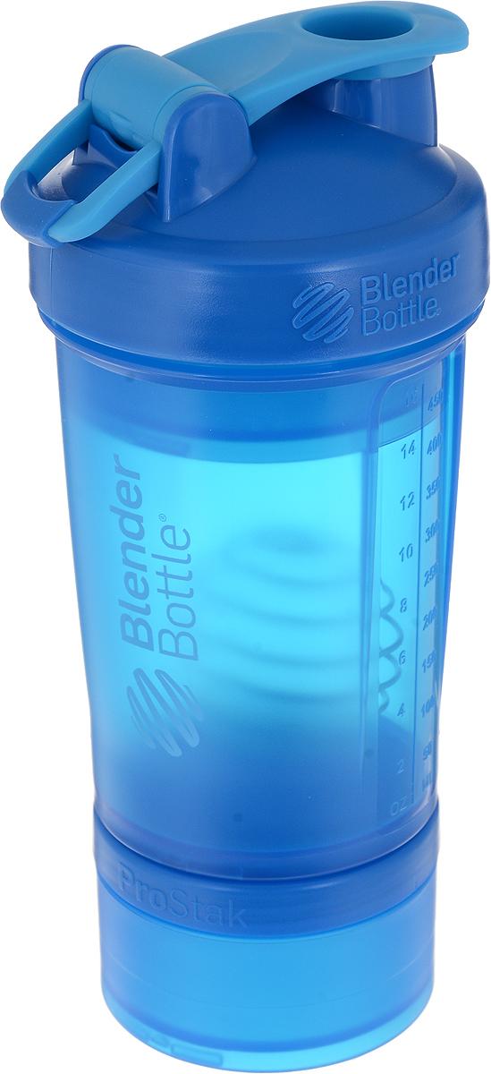 Шейкер спортивный BlenderBottle ProStak Full Color, с контейнером, цвет: синий, 650 млBB-PRSK-FCYA_синийBlenderBottle ProStak - это шейкер с уникальной на сегодняшний день системой хранения, адаптируемой к любимымвашим потребностям.- шейкер + гибкая система контейнеров TwistnLock (100 мл, 150 мл, 250 мл*, контейнер для таблеток - в любыхколичествах и комбинациях**)- независимая система контейнеров- запатентованная петля для удобства транспортировки- лучшая технология смешивания благодаря шарику-венчику BlenderBall- 10 стильных расцветок.Качественные материалы не содержат бисфенол (BPA) и фталаты, благодаря чему шейкер абсолютно безопасен дляздоровья. Шейкергерметично закрывается и не допускает протекания при переноске в сумке. Шарик-венчик BlenderBallс легкостью смешивает даже самыеплотные ингредиенты, а широкое горлышко делает питье комфортным. Гибкая система контейнеров позволяет использовать любые комбинации для получения необходимого объема, авозможность использоватьконтейнеры Expansion Pak как вместе, так и отдельно от шейкера позволит взять с собойвсе, что нужно даже при ограниченном объеме вашейсумки.Уникальная система Все-в-Одном!* Экстра-большой контейнер 250 мл докупается отдельно в составе набора контейнеров ProStak Expansion Pak** Благодаря системе Twistn Lock вы можете собрать нужную вам комбинацию контейнеров. Любые размеры илюбое количество контейнеров.Соберите свой уникальный шейкер!Как повысить эффективность тренировок с помощьюспортивного питания? Статья OZON Гид