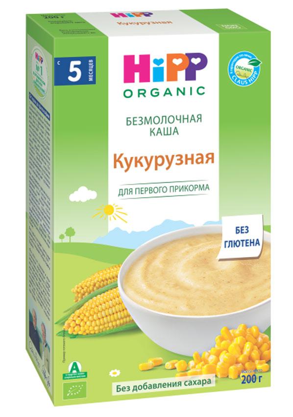 Hipp каша зерновая кукурузная, с 5 месяцев, 200 г пюре hipp безмолочная каша из цельного риса с фруктами с 5 мес 190 г