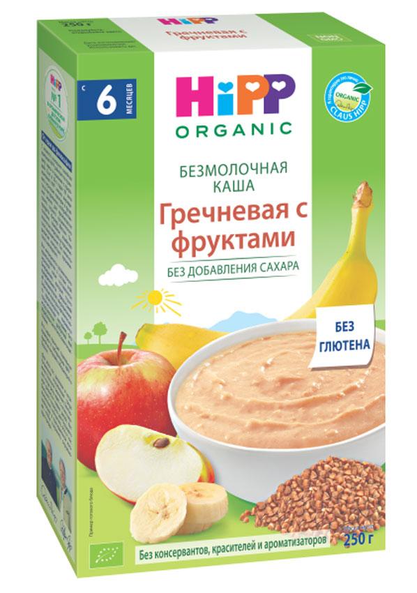 Hipp каша зерновая гречневая с фруктами, с 6 месяцев, 250 г