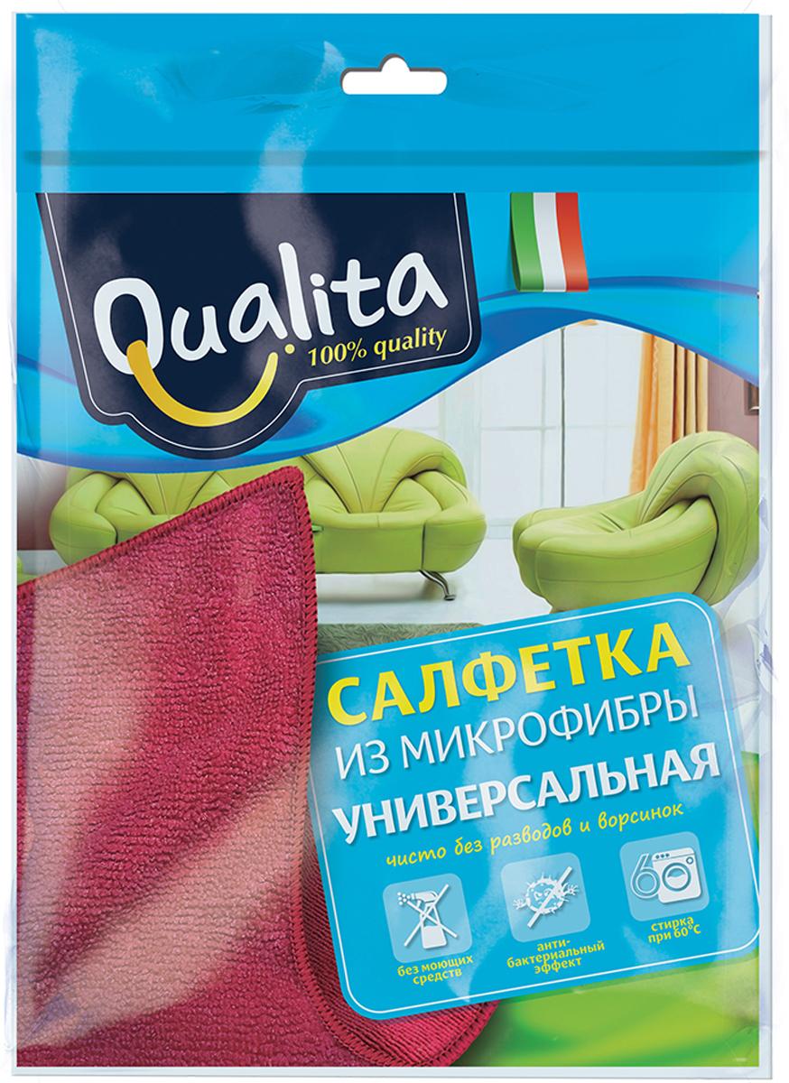 Qualita Салфетка из микрофибры, универсальнаяQUA-5920Для всех типов поверхностей. Эффективная уборка без моющих средств.