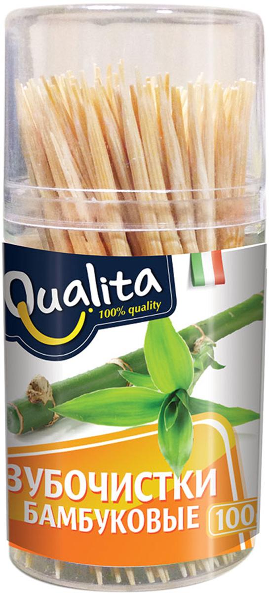 Qualita Зубочистки бамбуковые, 100 шт