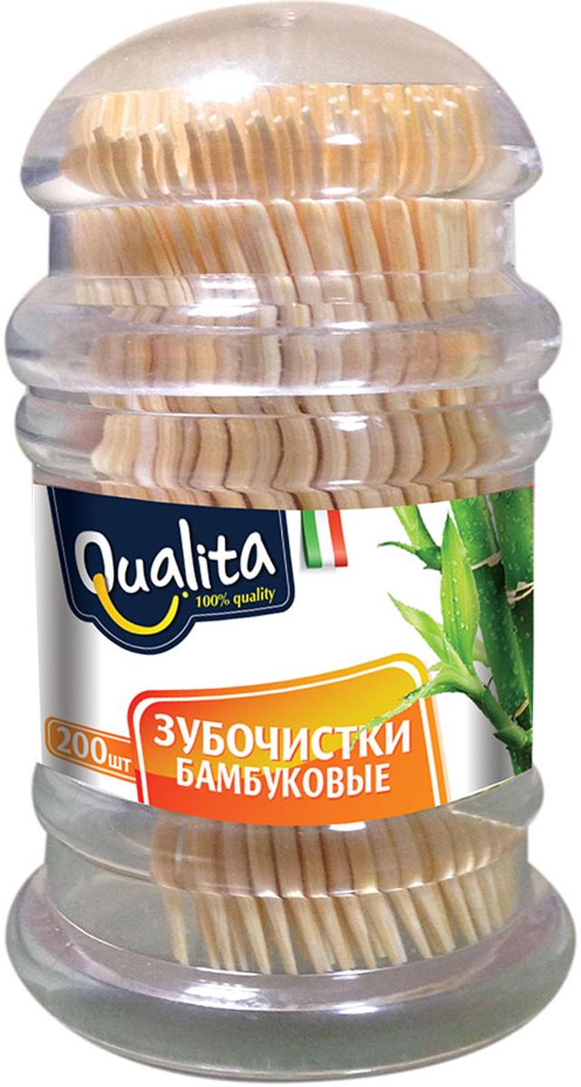 Qualita Зубочистки бамбуковые, 200 штQUA-6239100% бамбук. Тонкие и не травмируют десны. Антибактериальный эффект.