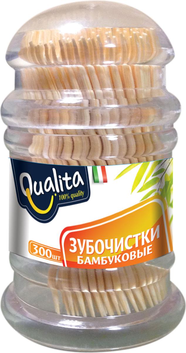 Qualita Зубочистки бамбуковые, 300 штQUA-6240100% бамбук. Тонкие и не травмируют десны. Антибактериальный эффект.