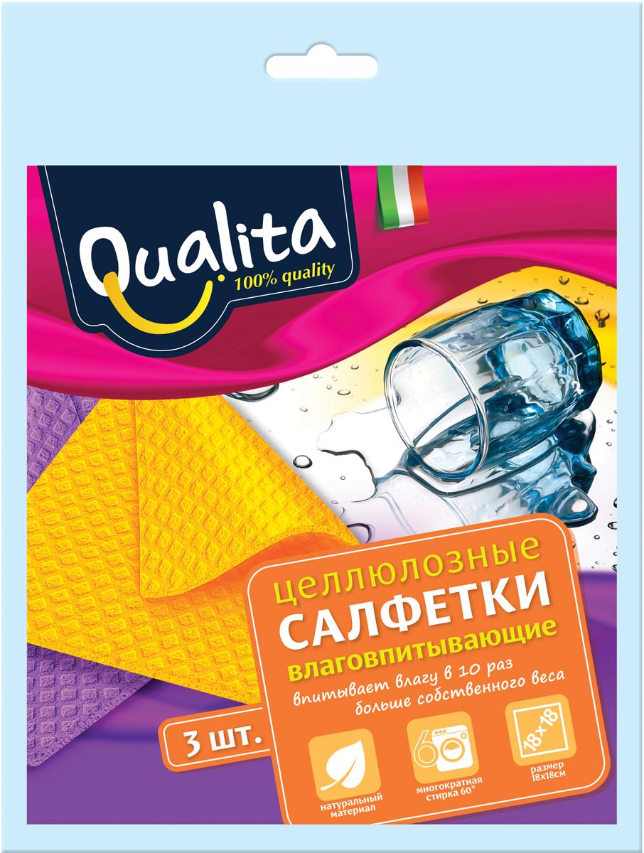 Qualita Салфетки влаговпитывающие, 3 штQUA-6507Салфетка для уборки на кухне. Впитывает влаги в 10 раз больше собственного веса.