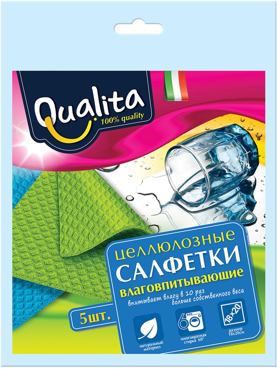 Qualita Салфетки влаговпитывающие, 5 штQUA-6508Салфетка для уборки на кухне. Впитывает влаги в 10 раз больше собственного веса.