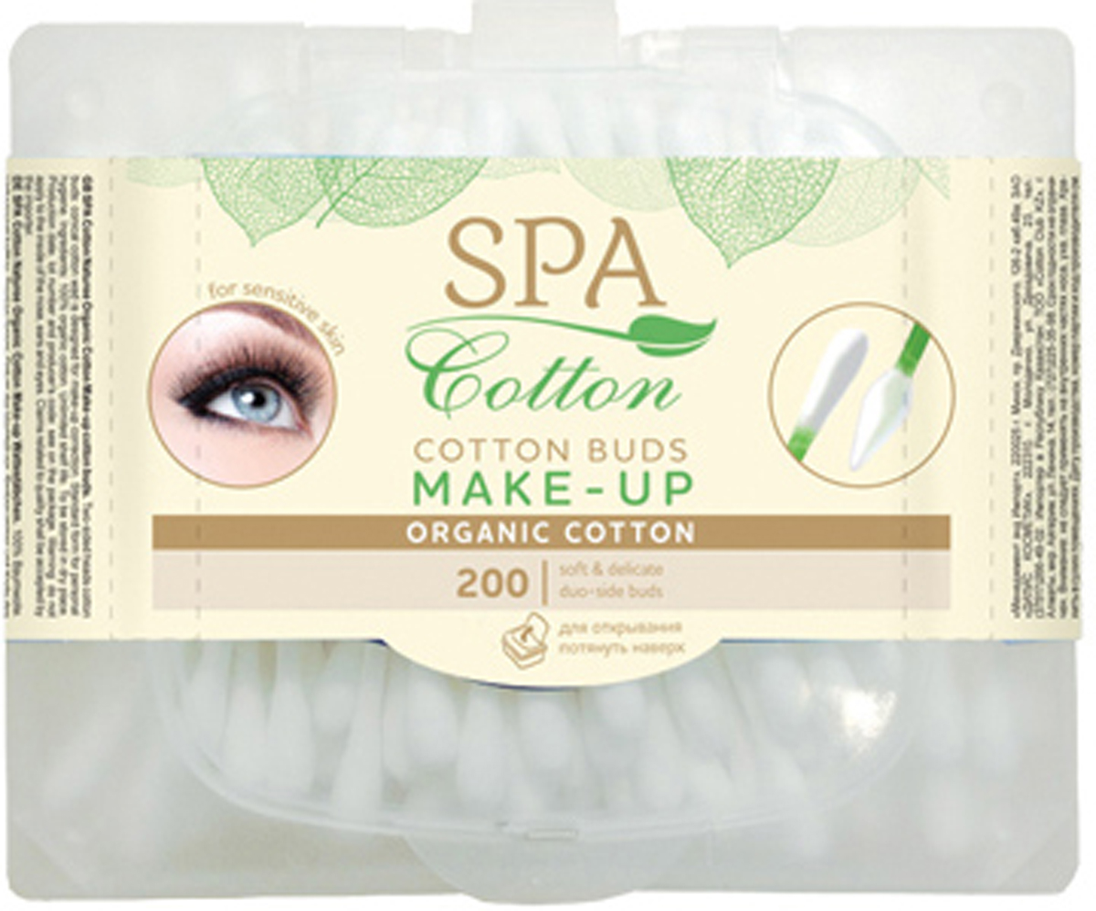 Spa Cotton Ватные палочки Organic Make-up, 200 шт