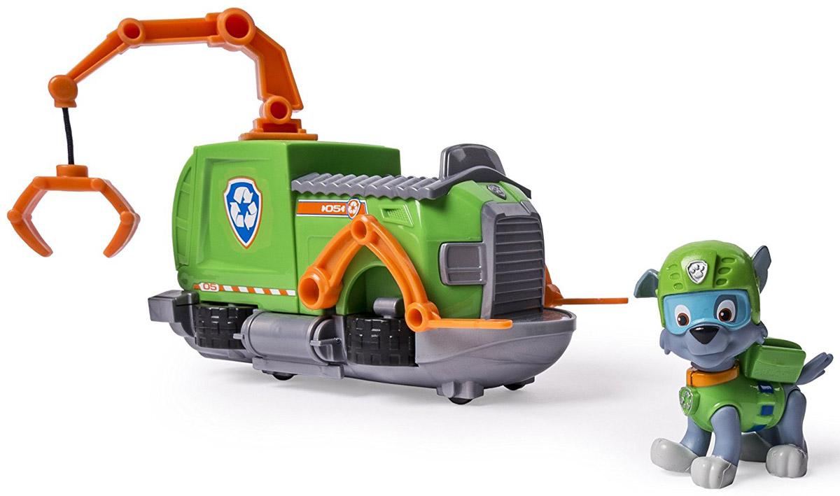 Paw Patrol Игровой набор Машинка спасателя и щенок Rocky paw patrol фигурка щенок спасатель marshall