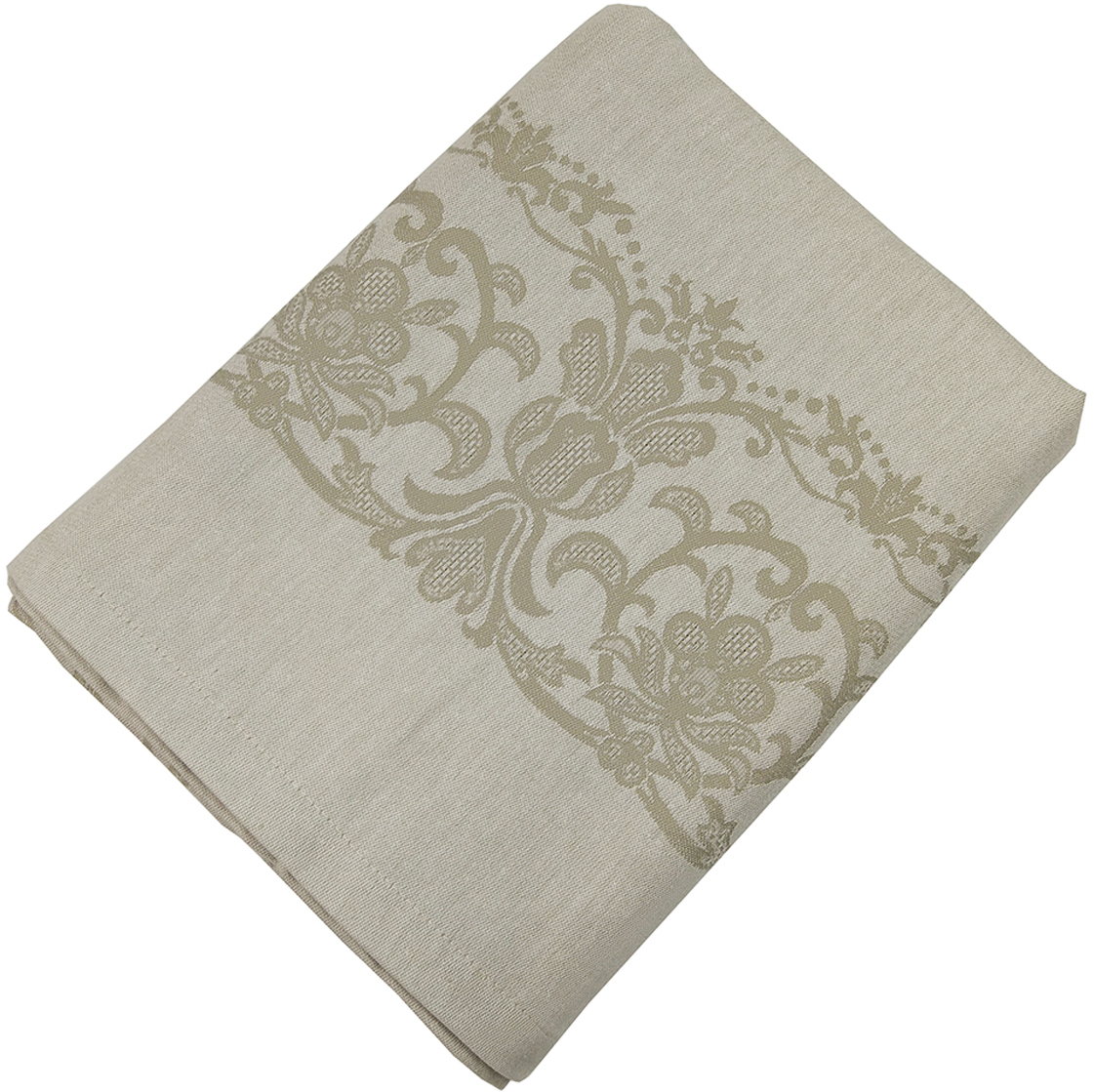 """Прямоугольная скатерть Arloni """"Viola"""" изготовлена из натуральной плотной испанской ткани (100% хлопок). Высокие экологические свойства ткани позволяют использовать изделие не только в качестве декоративного оформления, но и для сервировки обеденного стола. Скатерть хорошо сочетается с другими элементами кухонного текстиля и имеет универсальный размер. Красиво смотрится как на круглом, овальном, так и на прямоугольном столе."""