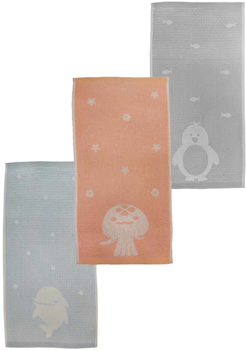Набор кухонных полотенец Arloni Морские животные, 25 х 50 см, 3 шт. 9612ARL полотенца банные arloni набор полотенце махровое 3 штуки