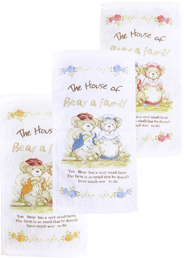 Набор кухонных полотенец Arloni Bear a family, 25 х 50 см, 3 шт. 9614ARL9614ARL