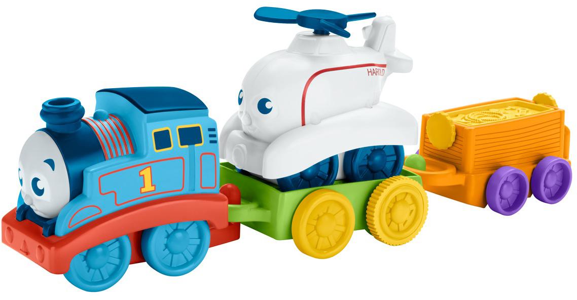 Thomas & Friends Игровой набор Мой первый Томас Томас и Гарольд железные дороги и паровозики thomas