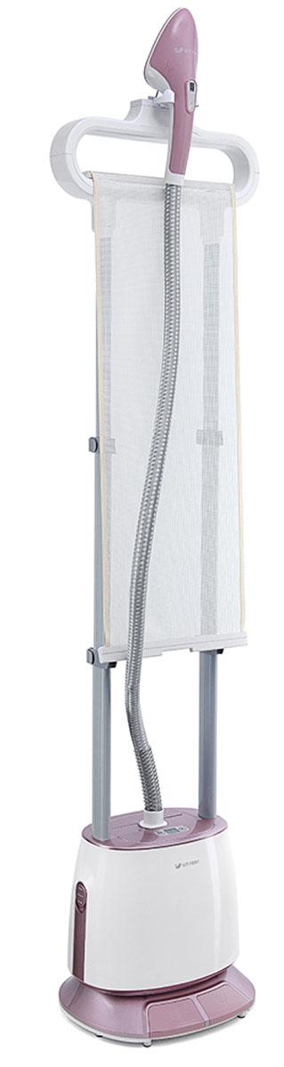 Kitfort КТ-919 отпаривательКТ-919Вертикальный отпариватель Kitfort КТ-919 — серьезный конкурент паровых утюгов: он позволяет чрезвычайно быстро прогладить любые вещи и изделия из текстиля. Это тщательный уход за вещами, не отнимающий много времени. В отличие от утюгов, которыми гладят ткани и одежду, расположенные горизонтально, отпаривателем в основном обрабатывают одежду и ткани, расположенные вертикально. Одежда при этом может висеть на вешалке отпаривателя, на обычной вешалке, подвешенной к отпаривателю, просто на вешалке, на сушилке для белья или на веревке. Вертикальный отпариватель Kitfort КТ-919 оснащен вертикальной гладильной доской. Она облегчает и ускоряет процесс глажки. Одежда размещается на специальной вешалке и во время отпаривания прижимается к поверхности доски давлением пара или утюжком.