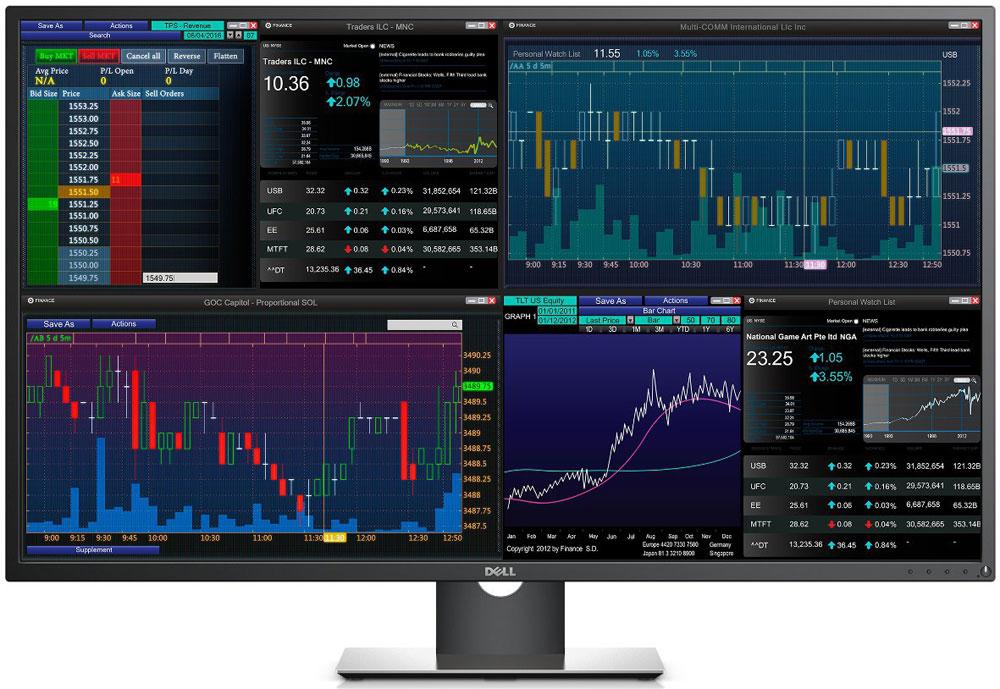 Dell P4317Q, Black монитор4317-4404Повышение производительности для пользователей с особыми требованиями с помощью одной матрицы набазе 43-дюймового монитора для нескольких клиентских устройств Dell P4317Q, обеспечивающего четкоеотображение текста и графики, а также точную цветопередачу.Контролируйте до четырех независимых изображений в рамках одной матрицы, характеризующейся яркимицветами и потрясающей четкостьюПолное отсутствие границПри разрешении от Full HD до Ultra HD 4K любая матрица (от одного до четырех элементов) отображается четко ивыразительно, а фронтальные панели не разрывают изображение на части.Потрясающее удобство совместной работыЦвета не искажаются при просмотре под самыми широкими углами (до 178°), что упрощает совместную работугруппы специалистов.Решение для комфортной работыПревосходная матовая отделка и низкий коэффициент отражения снижают нагрузку на пользователя даже придлительной работе за монитором.Решение Dell Display Manager помогает одновременно выводить изображение от нескольких (до четырех)источников, а также поддерживает настройку раскладки матрицы и увеличение одного из изображений.В отличие от традиционных телевизоров этот монитор создан для бизнеса и поддерживает одновременныйвывод изображения от нескольких источников для решения важных бизнес-задач.Благодаря выводу изображения от четырех источников на одном экране перемещение в рамках рабочей средывыполняется быстро и легко.