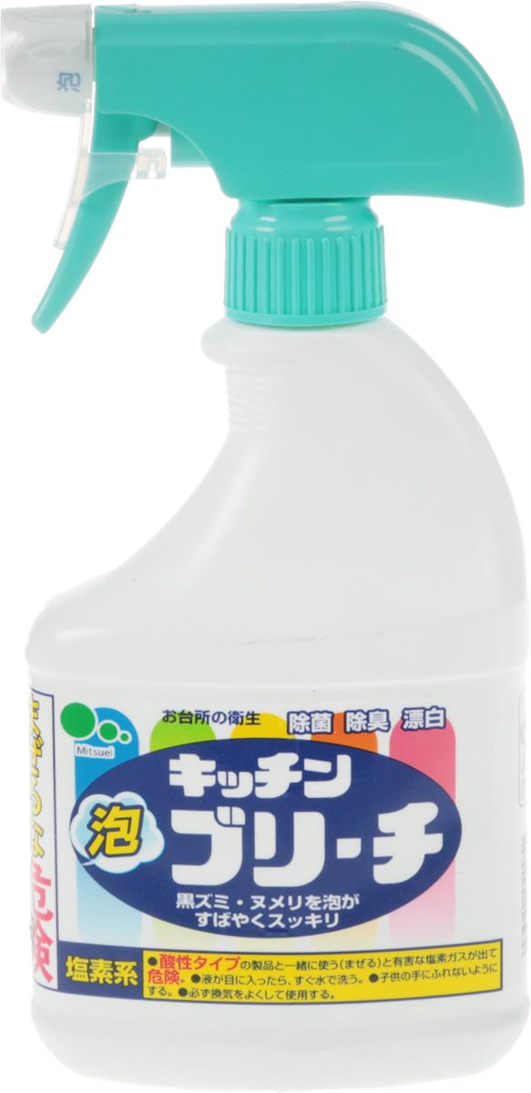Средство для кухни Mitsuei, с распылителем, 0,4 л40054Средство Mitsuei станет незаменим помощником в поддержании чистоты на кухне. Благодаря распылителю, средство невероятно удобно и экономично. Пена легко удаляет любые загрязнения. Прекрасно отбеливает кухонные полотенца и салфетки. Дезинфицирует кухонные поверхности, разделочные доски. Средство прекрасно очищает, отбеливает и дезинфицирует кружки и ложки. Отбеливатель устранит неприятные запахи и предотвратит размножение микробов.Состав: гипохлорит натрия (хлористый), поверхностно-активное вещество (алкиламиноксид натрий), гидроксид натрия.Товар сертифицирован.Уважаемые клиенты! Обращаем ваше внимание на то, что упаковка может иметь несколько видов дизайна. Поставка осуществляется в зависимости от наличия на складе.Как выбрать качественную бытовую химию, безопасную для природы и людей. Статья OZON Гид