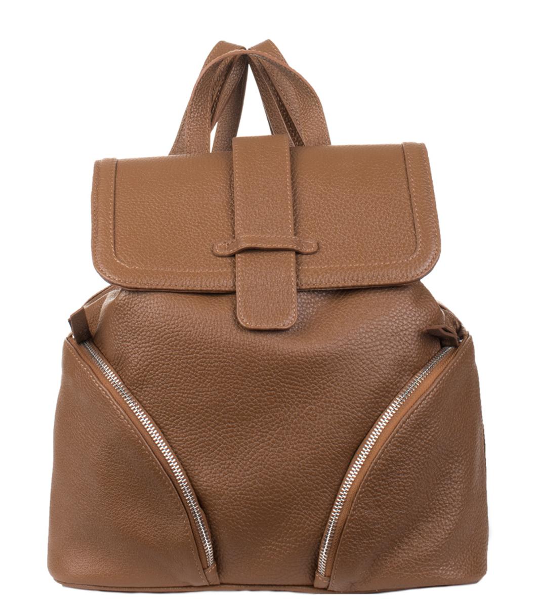 Рюкзак женский Fabio Bruno, цвет: рыжий. R-1624 кожаный рюкзак