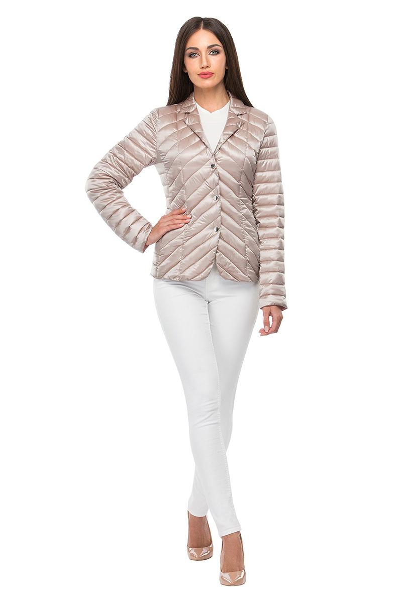 Куртка женская Conso, цвет: серый. SS180103. Размер 46 (48)SS180103 - mercurioСтильная куртка-жакет приталенного силуэта с закругленным подолом. Модель с длинными рукавами, отложным воротником и лацканами фиксируется на металлические кнопки. Изделие дополнено врезными карманами на потайных молниях. Основные элементы дизайна - комбинированная стежка и контрастная подкладка. Куртка выполнена из легкой и прочной ткани с наполнителем из биопуха.