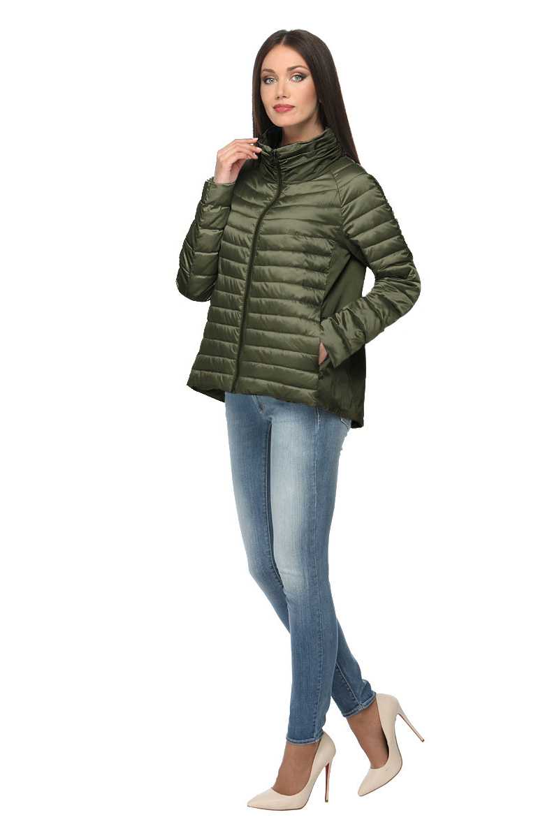 Куртка женская Conso, цвет: темно-зеленый. SS180105. Размер 50 (52)