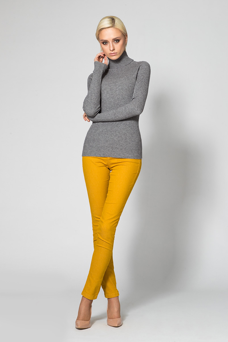 Водолазка женская Conso, цвет: серый. KWTS170781. Размер 46 (48) куртка женская conso цвет бордовый ss180119 размер 46 48
