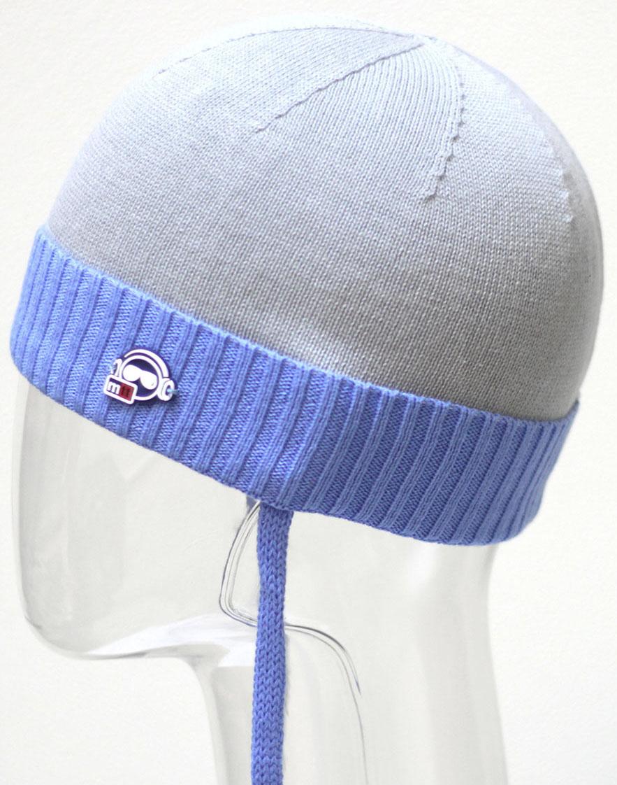 Шапка для мальчика Marhatter, цвет: гоулбой, светло-серый. MBH6504. Размер 50/52 шапка marhatter для мальчика джинс