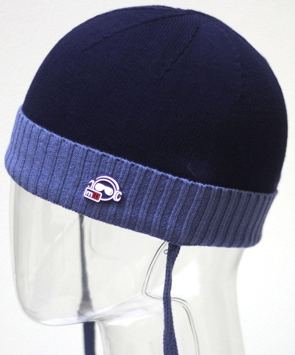 Шапка для мальчика Marhatter, цвет: темно-синий. MBH6504. Размер 50/52 шапка marhatter для мальчика джинс