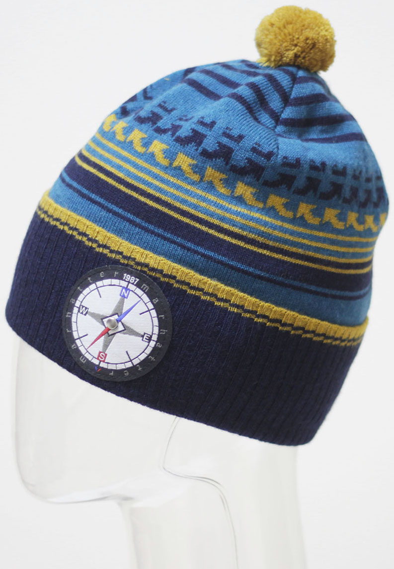Шапка для мальчика Marhatter, цвет: темно-синий. MBH6713/5. Размер 52/54 шапка marhatter для мальчика джинс