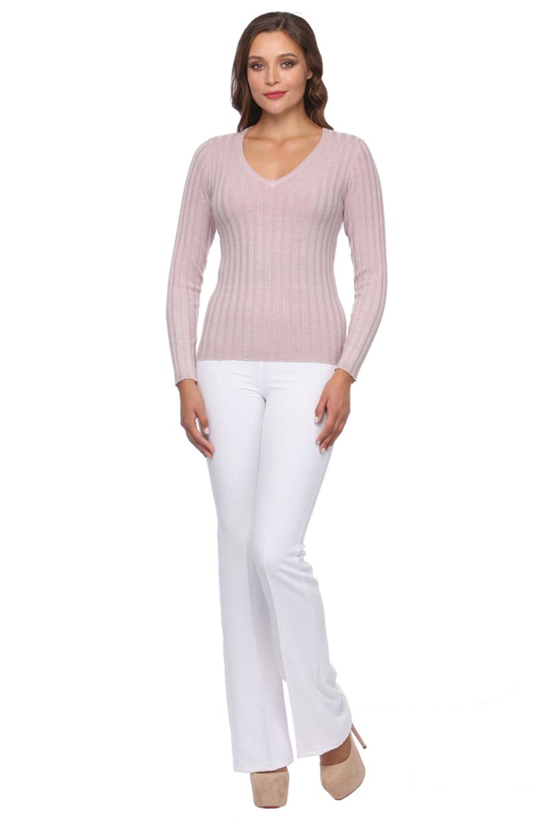 Джемпер женский Conso, цвет: светло-розовый. KWJS170753. Размер 46 (48)KWJS170753 - powderСтильный джемпер с V-образным вырезом по горловине и длинным рукавом. Изделие выполнено из мягкого, приятного к телу трикотажа с текстурной вязкой.