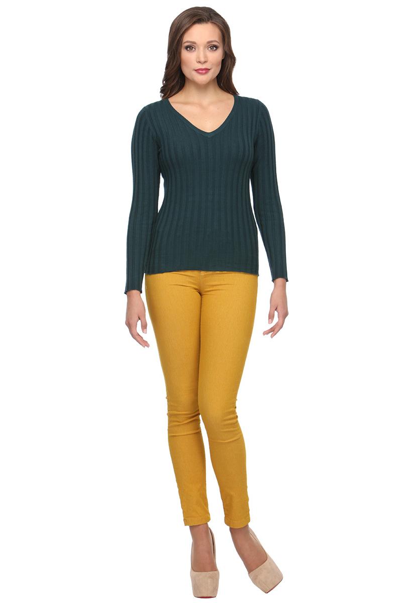 Джемпер женский Conso, цвет: темно-зеленый. KWJS170753. Размер 44 (46)KWJS170753 - petrolСтильный джемпер с V-образным вырезом по горловине и длинным рукавом. Изделие выполнено из мягкого, приятного к телу трикотажа с текстурной вязкой.
