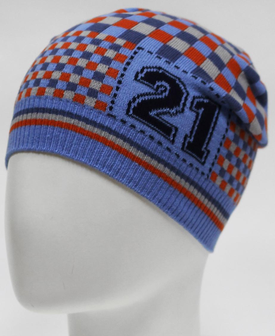 Шапка для мальчика Marhatter, цвет: голубой. MBH7255. Размер 50/52
