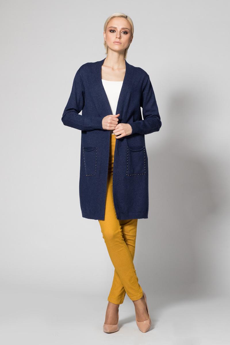 Кардиган женский Conso, цвет: синий. KWCM170782. Размер 44 (46) кардиган conso кардиган