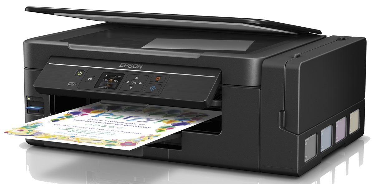 Epson L3070 МФУ62EPMFL3070Epson L3070 — это МФУ 3–в-1 (принтер, сканер и копир), нового поколения. Эта модель использует для печати компактные, полностью интегрированные в корпус, чернильные емкости вместо картриджей, что обеспечивает существенную экономию как денег, так и рабочего пространства.Отличительной чертой Epson L3070 служат возможность беспроводной работы с мобильных устройств на базе iOS и Android. с помощью сервиса Epson Connect, а также печать напрямую с карт памяти, благодаря специальному слоту и ЖК-экрану диагональю 3,7 см.Отличительной особенностью данного МФУ от устройств предыдущего модельного ряда является принципиально новая конструкция чернильных емкостей. Теперь они полностью интегрированы в корпус, что уменьшает ширину устройства, практически на 4 см.Кроме того, больше вам не нужно отсоединять чернильные емкости для заправки. Просто откройте крышку и перелейте чернила из контейнера в емкость печатающего устройства. При этом нам удалось сохранить показатели стоимости владения и ресурс расходных материалов.Контейнеры с чернилами стоят в 2,5 раза дешевле аналогичных картриджей, при этом чернил в контейнерах в 10 раз больше, чем в картриджах. Не ограничивайте себя в печати, с «Фабрикой печати Epson» вы получаете больше чернил за меньшие деньги.Преимущества беспроводного подключения в том, что находясь в любом уголке квартиры или офиса, пользователь может оперативно распечатать необходимые документы или фотографии с любого устройства с поддержкой Wi-Fi или отсканировать на него необходимые материалы. Кроме того, вы можете сэкономить место на рабочем столе, установив принтер в удобном месте.Теперь нет необходимости подключать принтер к компьютеру для печати изображений с карт памяти. Вставьте SD-карту в специальный слот в корпусе принтера, настройте параметры печати и отредактируйте изображение на экране панели управления принтером и нажмите кнопку «старт».Скачайте и установите одно из бесплатных приложений сервиса Epson Connect и печатайте или скан