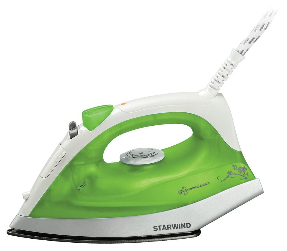Starwind SIR4315, Green утюгSIR4315Утюг Starwind SIR4315 практичен и универсален для домашнего использования, и оснащенный всеми необходимыми опциями.Подача пара в различных вариациях, регулировка нагрева, разбрызгивание воды и прочие возможности обеспечат удобство и эффективного ухода за одеждой.Утюг имеет компактные удобные размеры, оснащен легкой подошвой из нержавеющей стали, емкостью для воды на 150 мл., а также комплектуется мерным стаканчиком.