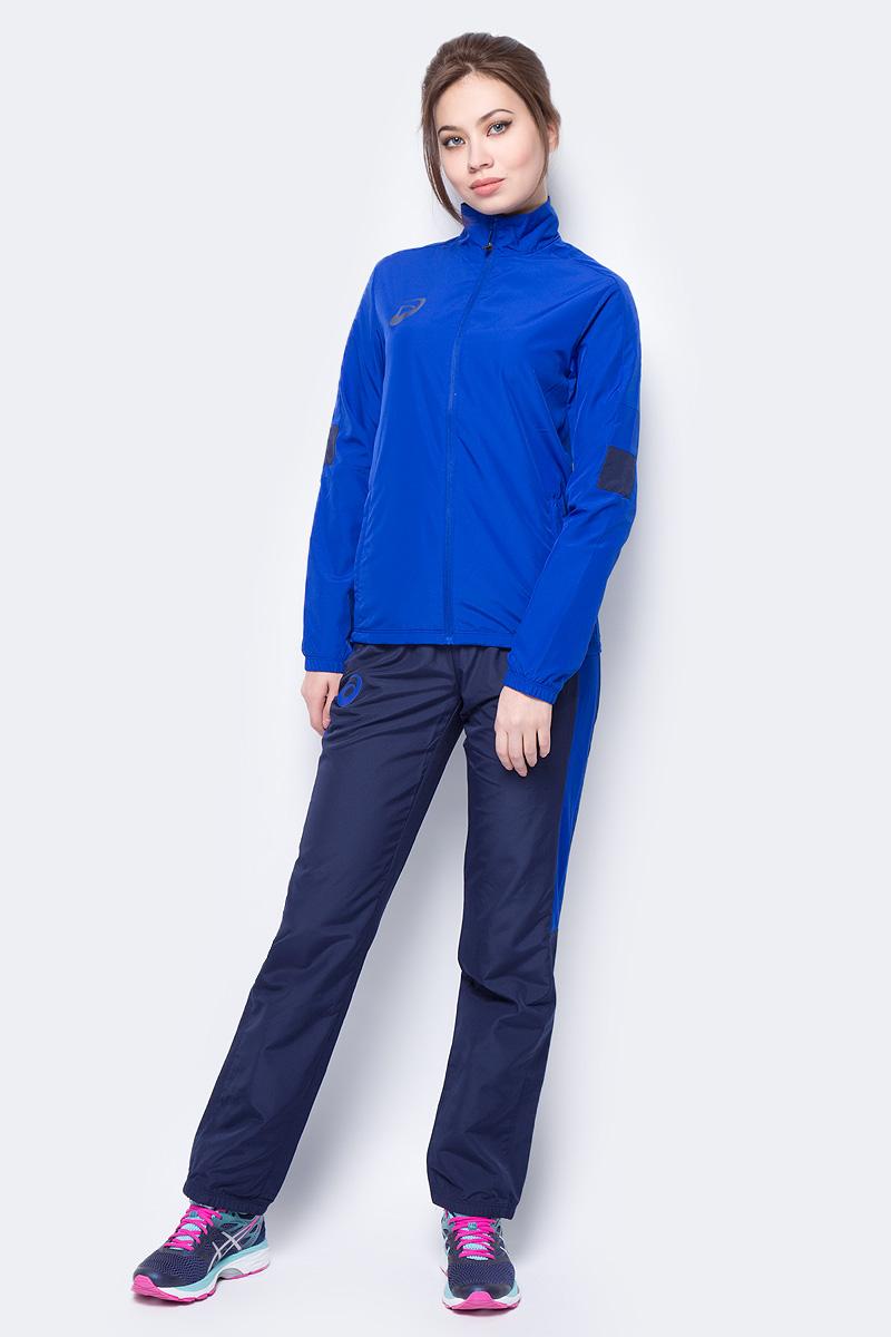 Костюм спортивный женский Asics Woman Lined Suit: куртка, брюки, цвет: синий. 156864-0805. Размер XS (42) костюм спортивный женский asics sweater suit цвет серый 142917 0798 размер s 42 44
