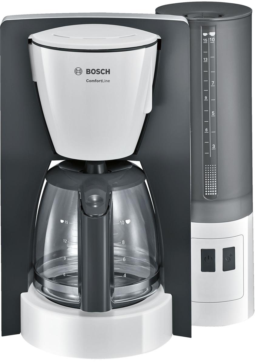 Bosch ComfortLine TKA6A041, White Gray кофеварка ями yami рука красные облака стеклянный кофейник кофе горшок 600cc ym5096