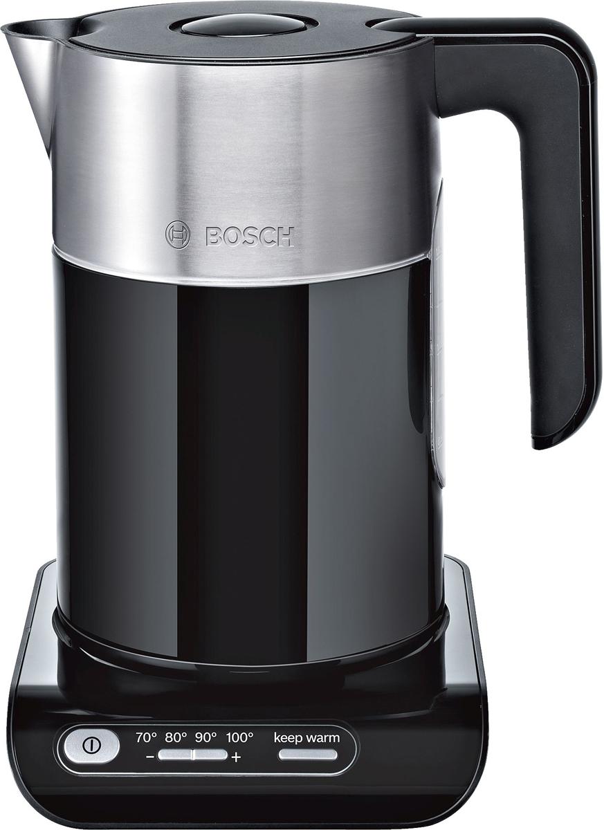 Bosch Kunststoff mit Edelstahl TWK8613P, Black электрический чайник электрический чайник bosch twk7901 twk7901