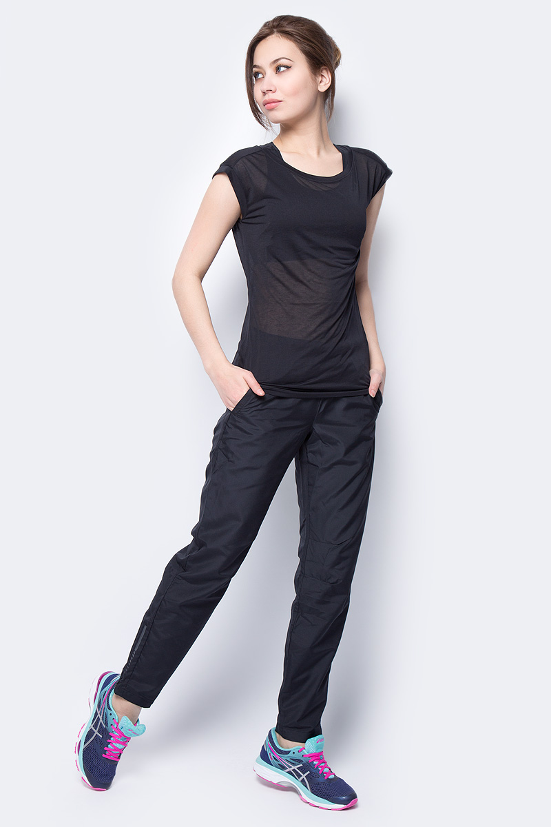 Футболка женская Asics Layering SS Top, цвет: черный. 155244-0904. Размер XS (42) шорты женские asics short 3 5in цвет черный 134117 0904 размер xs 42