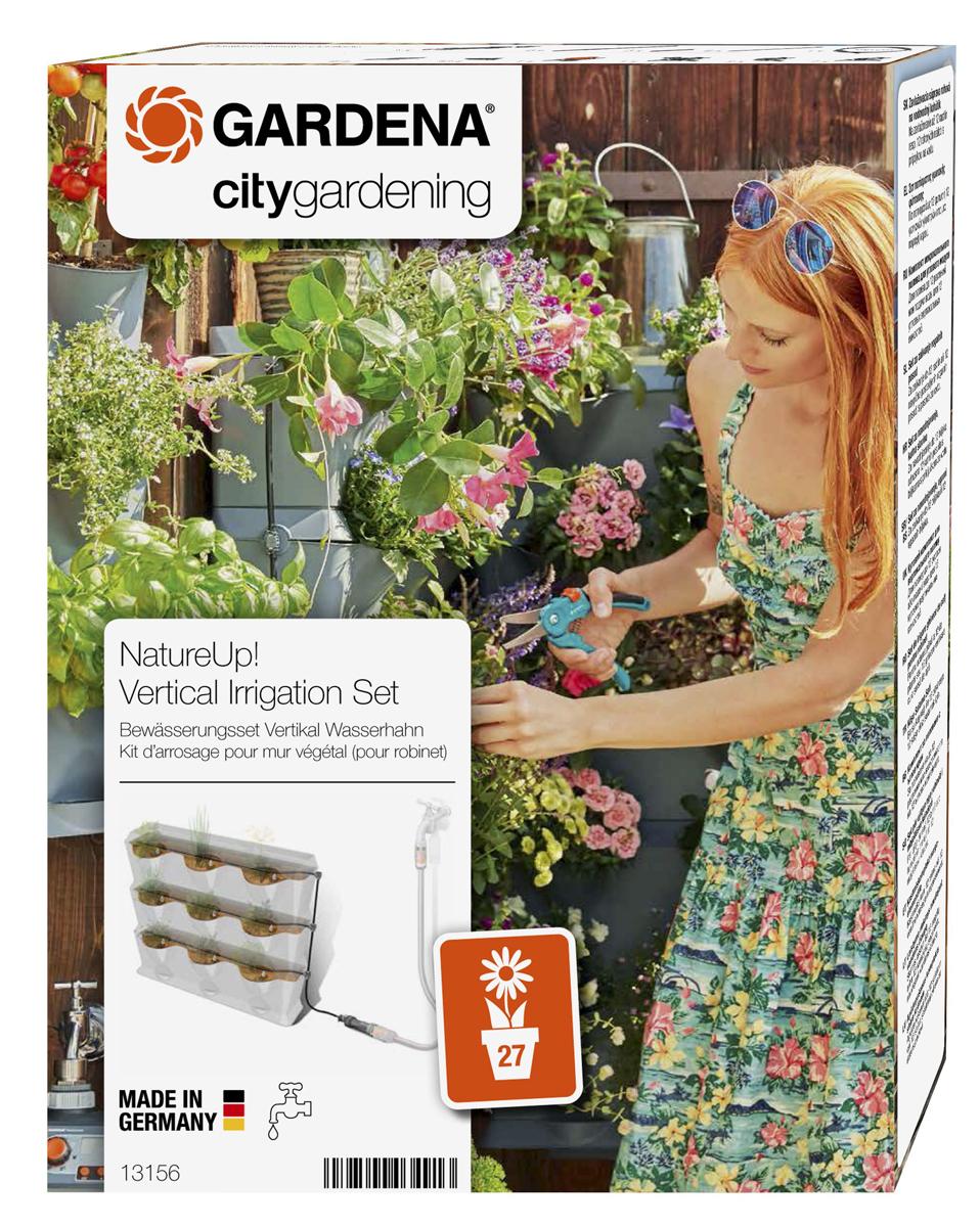 Система микрокапельного полива Gardena, для вертикального садоводства . 13156-20.000.0013156-20.000.00Комплект микрокапельного полива для вертикального сада. Подходит для полива 9 вертикальных модулей или 27 растений. Необходимо центральное водоснабжение
