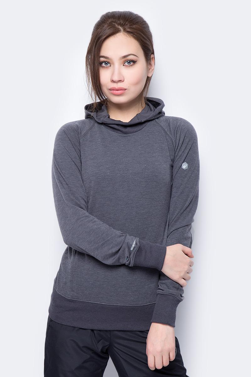 Худи женское Asics Hoodie, цвет: темно-серый. 154549-0773. Размер M (46)