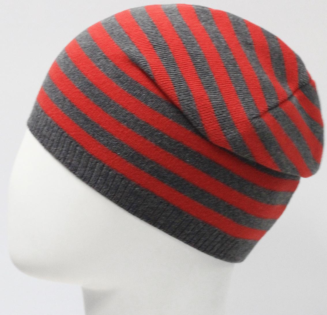 Шапка для мальчика Marhatter, цвет: темно-серый. MBH7533. Размер 50/52MBH7533Хлопковая шапка для мальчиков с контрастным сочетанием полос. Прекрасно подойдет для повседневных прогулок. Размер, доступный для заказа, является обхватом головы.