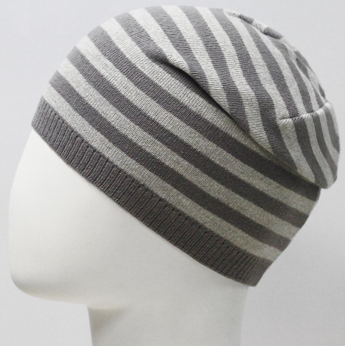 Шапка для мальчика Marhatter, цвет: серый. MBH7533. Размер 50/52MBH7533Хлопковая шапка для мальчиков с контрастным сочетанием полос. Прекрасно подойдет для повседневных прогулок. Размер, доступный для заказа, является обхватом головы.