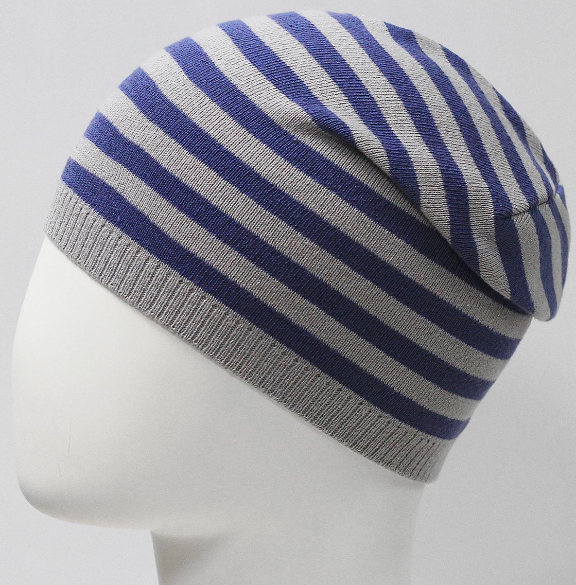 Шапка для мальчика Marhatter, цвет: синий. MBH7533. Размер 50/52MBH7533Хлопковая шапка для мальчиков с контрастным сочетанием полос. Прекрасно подойдет для повседневных прогулок. Размер, доступный для заказа, является обхватом головы.